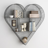 shelf heart zinc 3d max