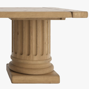 3d model of columns tables salvaged