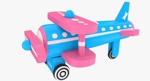 toy airplane obj