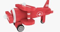 toy airplane 3d obj