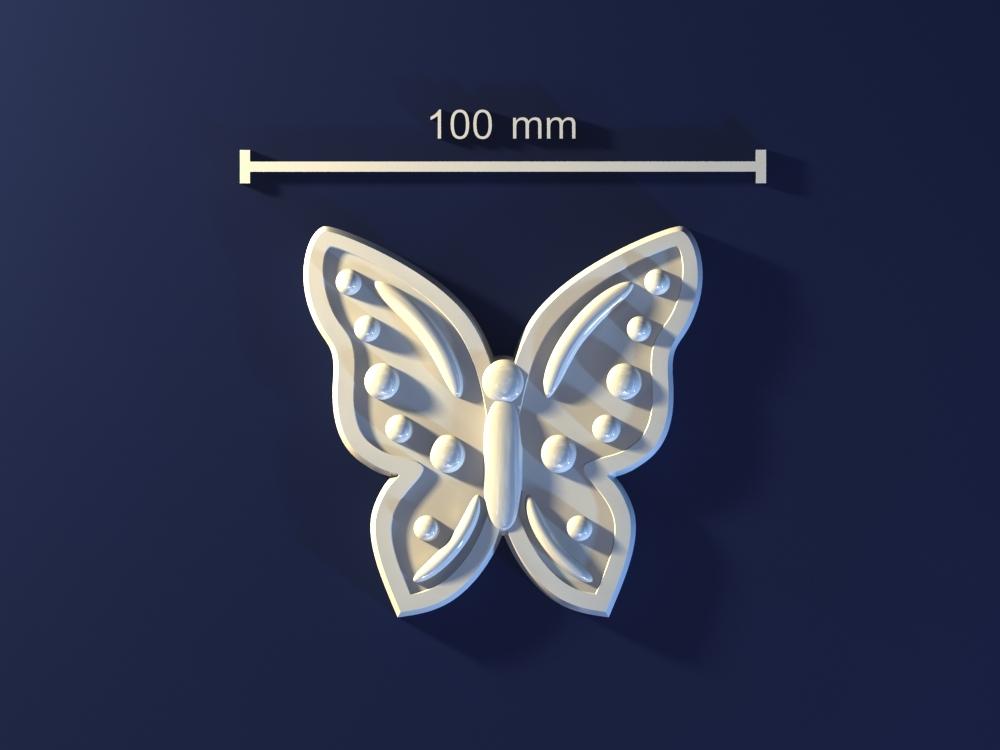 3d model butterfly mold hand
