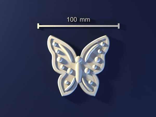 3d model butterfly mold hand