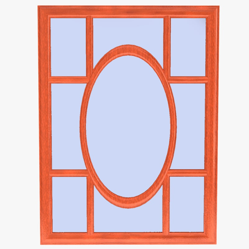 simple mirror 3d obj