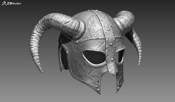 helmet zbrush ztl 3d model