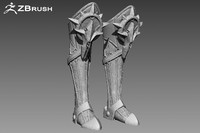 armor boots zbrush ztl 3ds