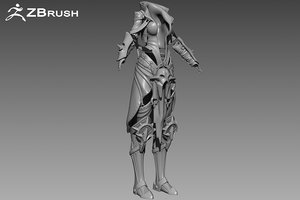 3d zbrush armor model