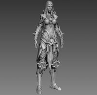 fantasy female character 3d model