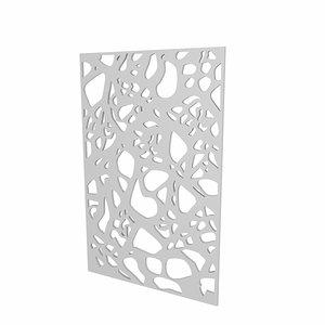 3d mdf jali partition model