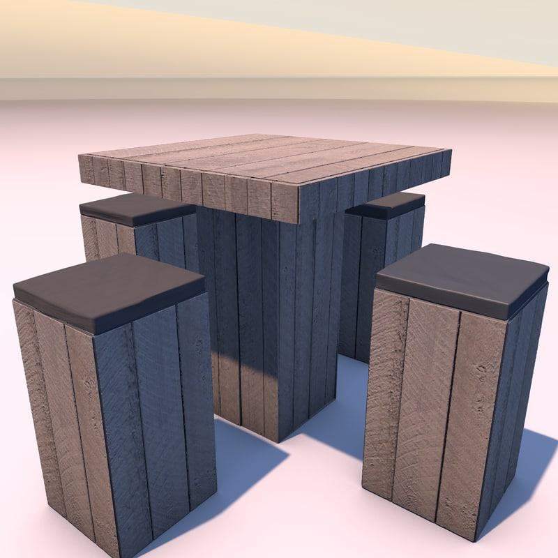 3d c4d table wood