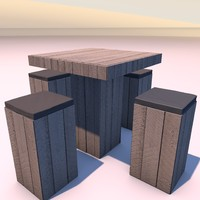 3d c4d table wood