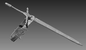 sword zbrush 3d obj
