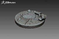 Zbrush Stone Pedestal
