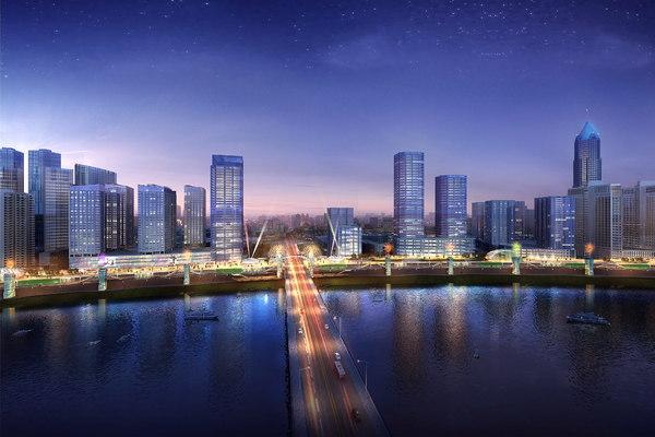 cityscape architectures road 3d max