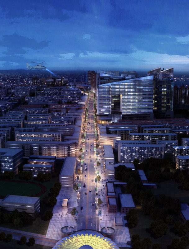 cityscape architectures road max