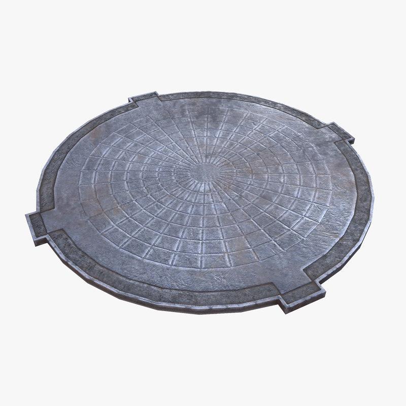 3d model of ready manhole