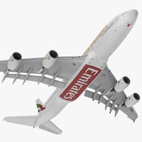 airbus a380-1000 emirates rigged x