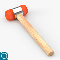 soft plastic hammer 3d model