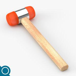 soft plastic hammer 3d model