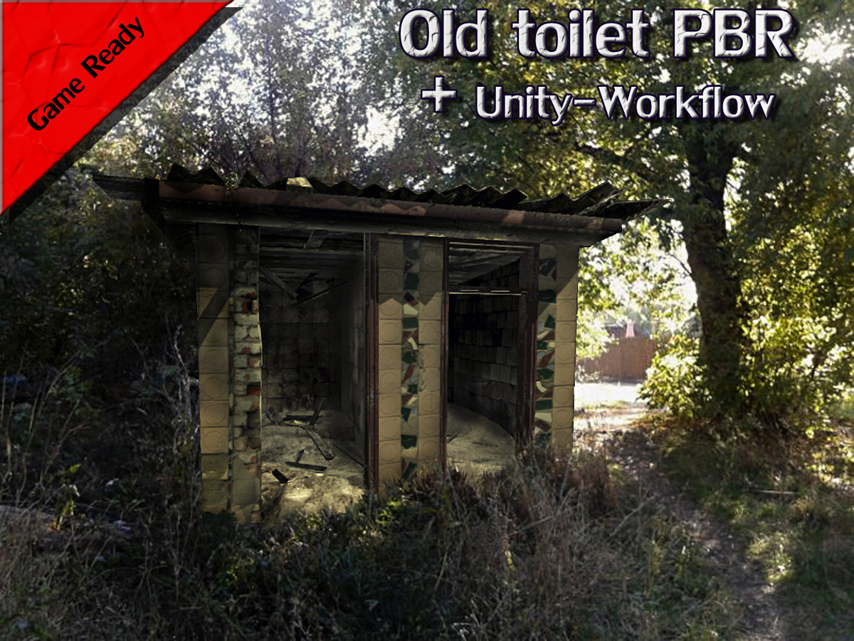 realistic old toilet 3d model