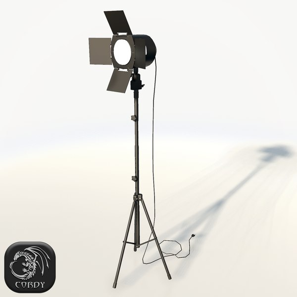3ds realistic photo studio spot