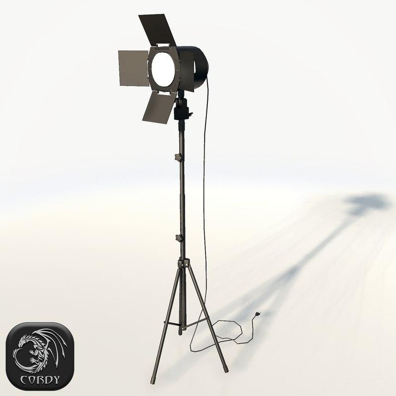 3ds realistic photo studio spot