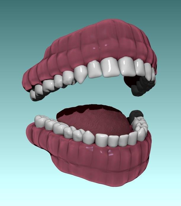 3ds teeth tongue