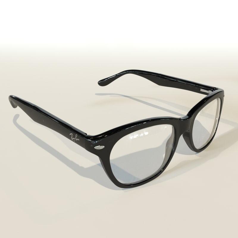 3d model rayban glasses
