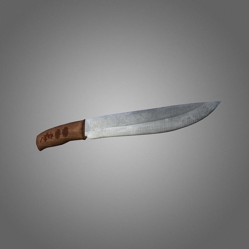 3d 3ds combat knife