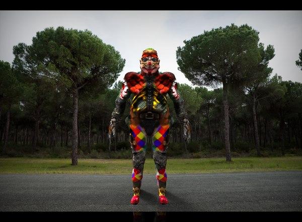 3d model clown forest