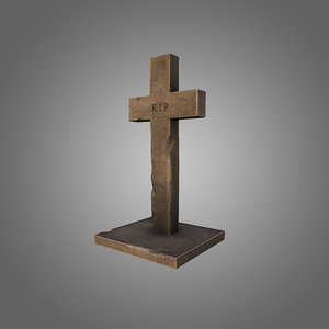 grave cross 3d 3ds