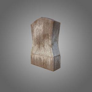 3d model grave low-poly