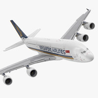3d model airbus a380-1000 singapore airlines