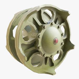 3d model t90 wheel
