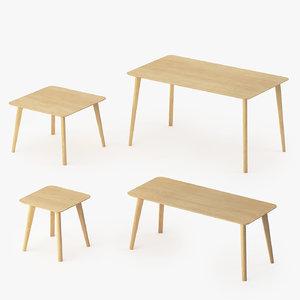 3d ikea lisabo tables model