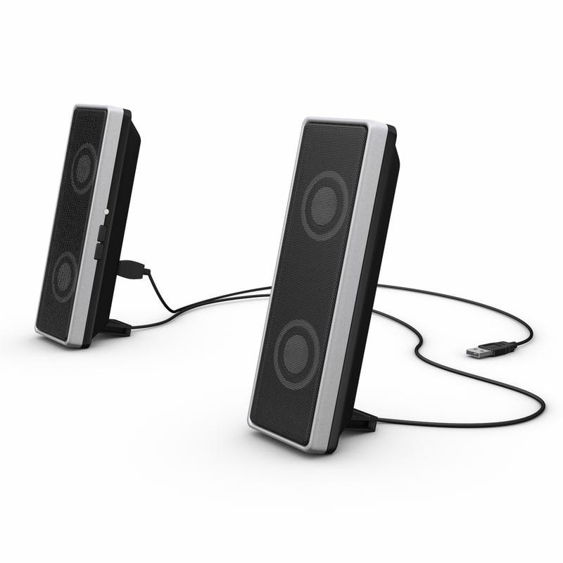 computer speaker 3d model