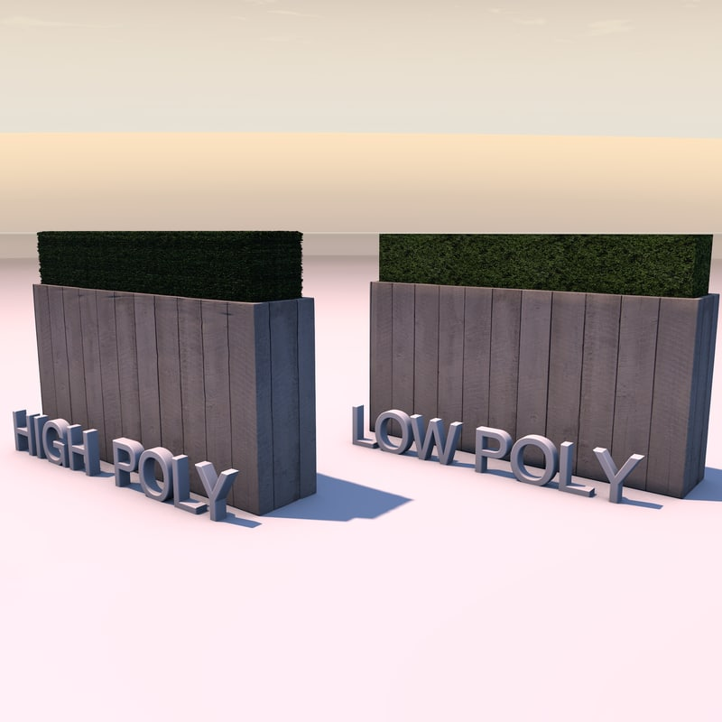 3d flower box wood model