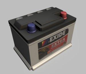 car battery 12 v 3d 3ds