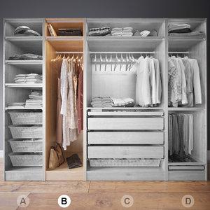 wardrobe clothes b 3d max