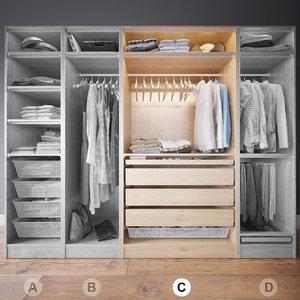 wardrobe clothes c 3d max