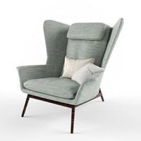 boconcept hamilton armchair 3d model