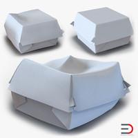 3d burger boxes