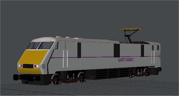 class 91 east coast 3d obj