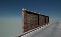 3d x brick wall