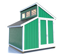 shed clerestory windows 3d model