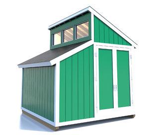 shed clerestory windows 3d model