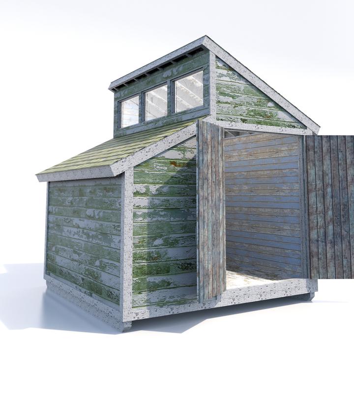 3d shed windows doors