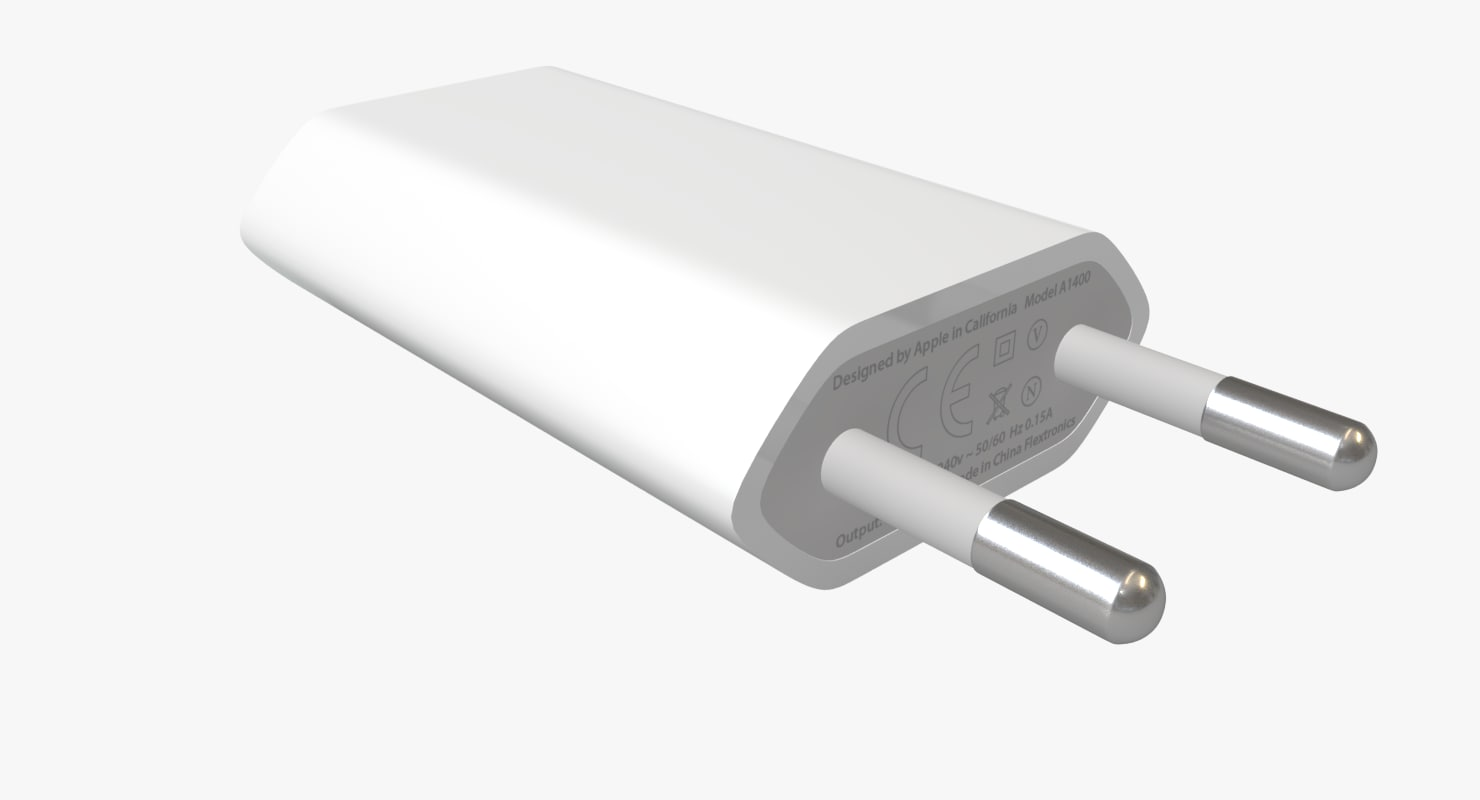 apple usb charger type 3d model