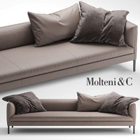 molteni sofa paul 3d model