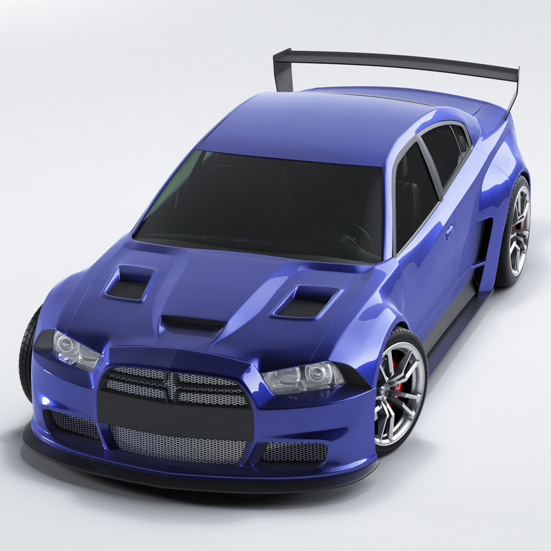 dodge charger 2012 3d max
