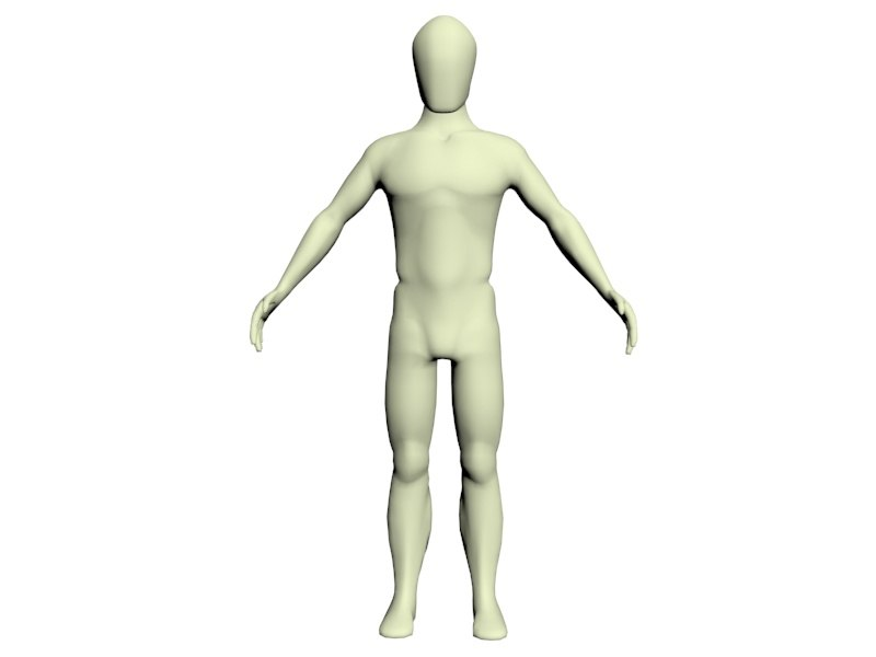 simple character body reference 3d max